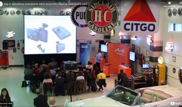Araç içi görüntüleme sistemlerinde sektör öncüsü Mio Türkiye'ye iddialı bir giriş yaptı